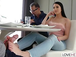 LoveHerFeet - Sexy Nefarious Haired Latina Has Her Limbs Sucked While Carnal Fucked