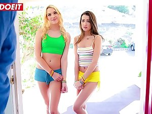 LETSDOEIT - College Girls Kenna James & Lily Adams Are Riding Chad White's Cock In Hot 3way Now Blackmail Him