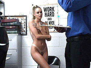 ShopLyfter - Blonde Thief Behind time And Fucked By Mall Cop