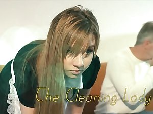 OMG My dad fucks young cleaning lady after she seduces him with his tight pussy and sexy outfit she sucks his cock and lets the daddy fuck her wet pussy hardcore on the couch